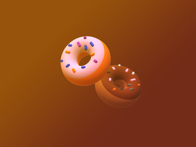 3D Donuts graphics graphic design donut graphic 3d donut 3d art donut illustration donut 3d design 3d