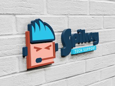 Spikey Tech Support Logo Design