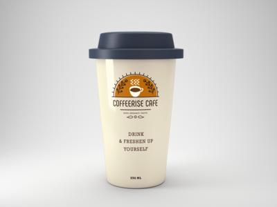 CoffeeriseCafe Logo Design