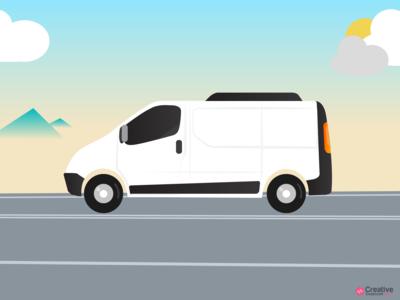 Delivery Van In Transit