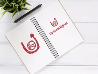 UpWebDigital New Logo - Handmade Sketch