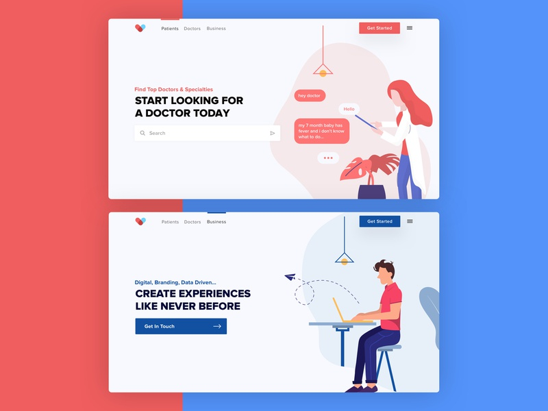 Cura • Landing Pages