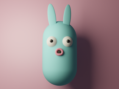 Surprised little creature character designer character design render character digital art design pastel colors blender 3dart 3d