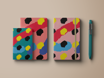 Touch. supplies notebook palette pastel colors painting illustration design product design stationary digital art
