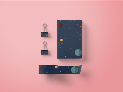 Spacial. supplies notebook palette painting illustration design product design stationary digital art