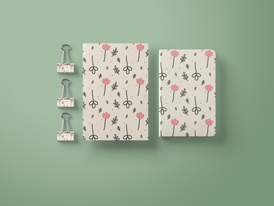 Flowery. supplies notebook palette pastel colors painting illustration design product design stationary digital art