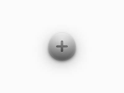 Spherical Button 3d highlight shadow button sphere depth skeuomorphism