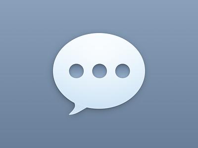 Messaging shortcuts chat gradient skeumorphism depth bubble imessage sketch