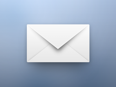Modern Mail envelope e-mail email colors gradient ios 6 mail depth skeuomorphism