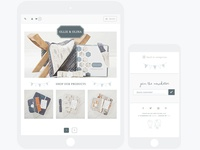 Ollie + Olina | Mobile Design