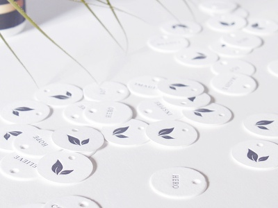 Laurmé Skin Care | Letterpress Hang Tags hang tags stationery product packaging packaging letterpress identity branding
