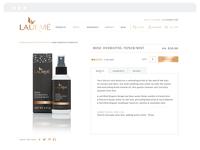 Laurmé Skin Care | Final Website
