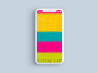 Sign Up design