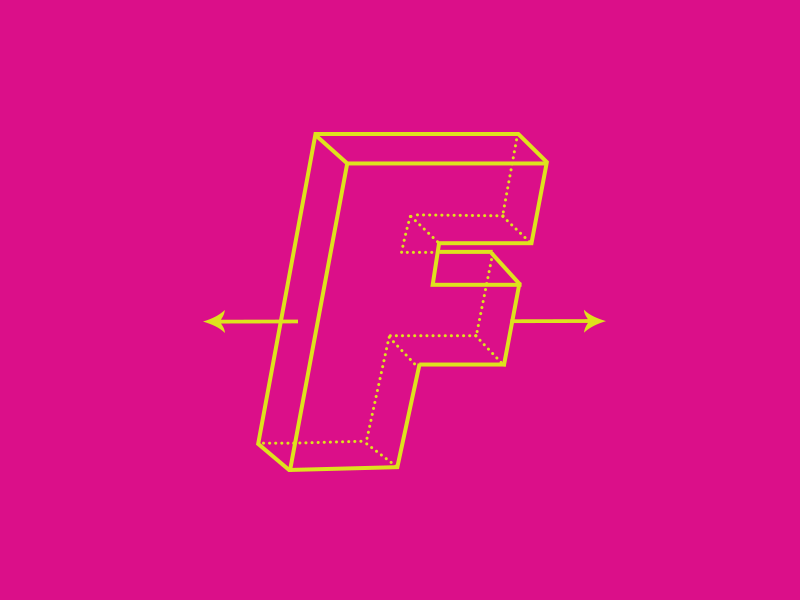 Playoff - #Typehue week 6 typehue minimal letter font f type playoff