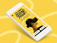 Jabra Sound Tour - Mobile landing page jabra ux webdesign mobile