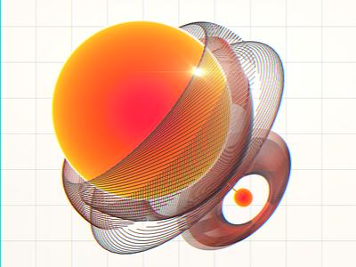 gaze // daily orange digital data ux ui after effects cinema 4d 3d c4d cinema4d daily