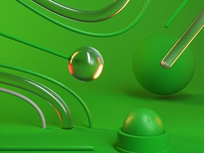 G510 - Green c4d 3d maxon render octane cinema 4d colors color green