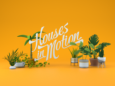 Houses in Motion - Plants design octane c4d cinema4d 3d cinema 4d motion graphics motion design flowers plant life greenery yellow plants
