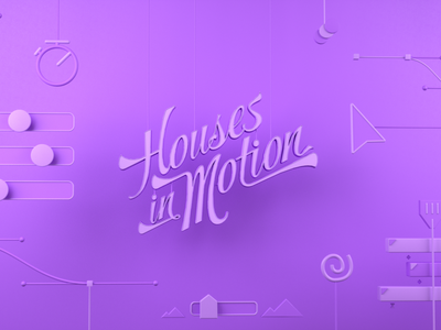 Houses in Motion - After Effects maxon octane cinema4d c4d cinema 4d 3d purple motion design motion graphics ae after effects