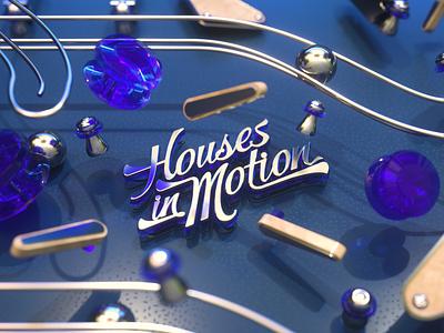 Houses in Motion - Pinball design maxon octane cinema4d c4d 3d cinema 4d motion graphics metal blue pinball