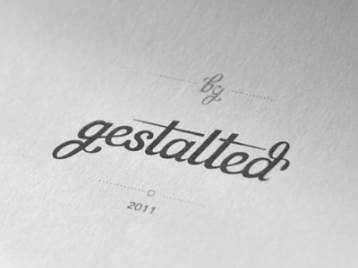 gestalted type typography type logo