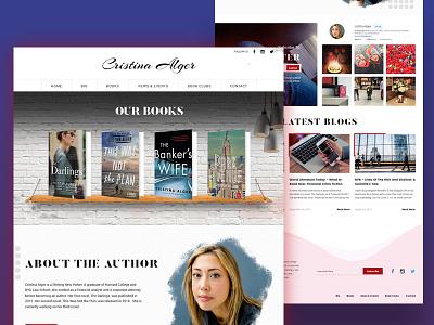 Book Author Design web development book showcase wordpress web design books writer author book author