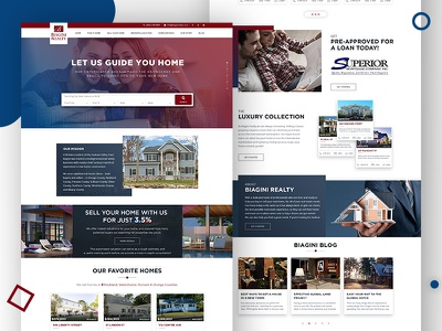 Real Estate Concept wordpress idx mls rental wordpress web design estate homes rental landing page real estate