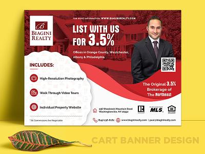 Shopping Cart Banner Design key house buy house rental broker print print design brochure flyer real estate banner banner design
