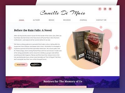 Book Author Concept designer writer author landing page wordpress web design books book author