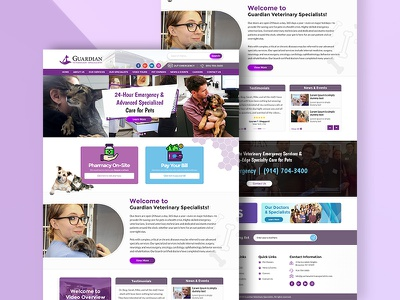 Veterinary Hospital Redesign pet hospital landing page web design web designer veterinary pet hospital designer creative redesign