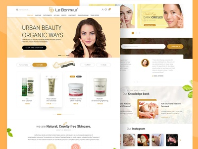 Skin Care Brand Web Design