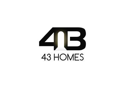Logo concept for 43 Homes 43 home 43 logo logo designer home logo best designer real estate logo best logo real estate illustration logo