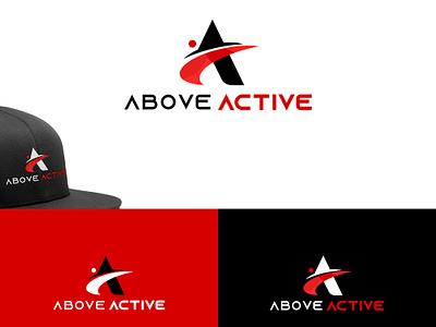 Above Active Logo Concept active logo healthy lifestyle fitness logo logo designer illustration best designer web design designer logo