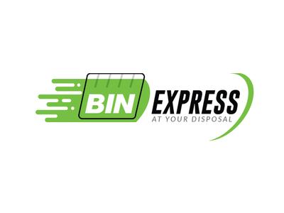 Disposal Bin Rentals Brand Identity Design disposal logo express bin best logo designer logo designer express logo bin express bin logo logo creative