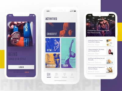 Fitness App iphone x debut app fitness ui