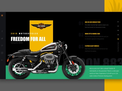 Product Web Banner harley davidson product website banner website banner uiuxdesign uidesign web