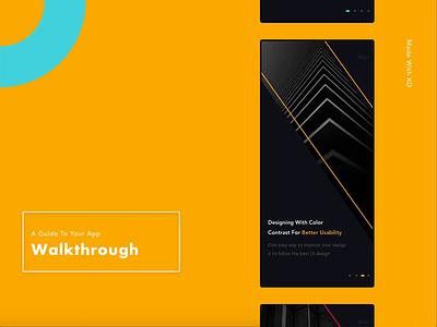 A Unique Walkthrough Screen 😎 iosdesign xd product color motion vector dailyinspiration mobile ui app design walkthrough iphonex iphone mp4 animation ui design ui