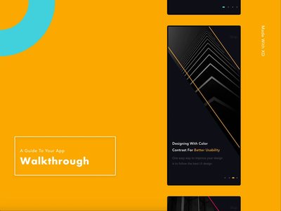 A Unique Walkthrough Screen 😎 iosdesign xd product color motion vector dailyinspiration mobile ui app design walkthrough iphonex iphone mp4 animation ui design ui