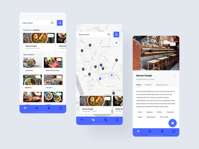 Foodetective - food critic in your pocket restaurant food ux mobile app ui