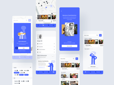Foodetective - food critic in your pocket dining restaurant food ux mobile app ui