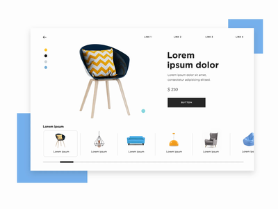 Ecommerce prototype - sliding menu ui design ux desgin ux ui-ux design ui justinmind