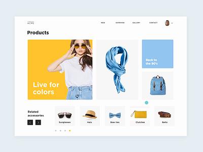 Interactive ecommerce prototype ux desgin ui design ux ui-ux design ui justinmind