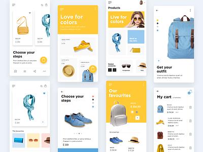 Mockup composition app ui-ux design uxdesign ux uidesign ui justinmind ecommerce