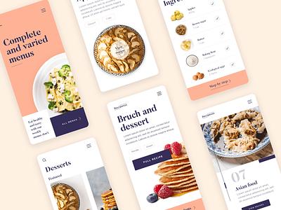 Responsive prototyping in Justinmind app design recipes app ui-ux design