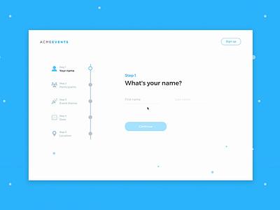 Interactive survey with steps prototype prototype animation prototyping survey steps survey design survey ui-ux design