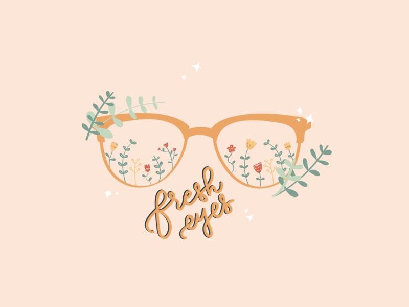 Fresh Eyes adobe illustrator floral doodleart sticker illustration