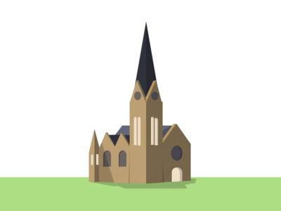 Giessen Johanneskirche giessen sketchapp vector johanneskirche