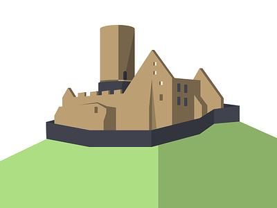 Burg Gleiberg giessen vector sketchapp