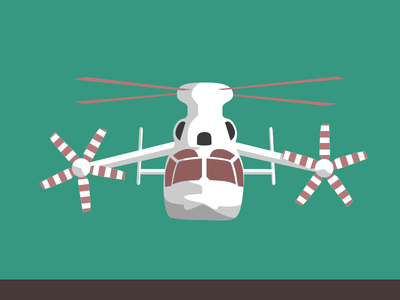 Huge Hngat vector sketchapp helicopter