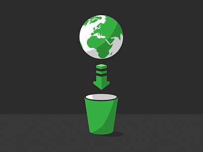 Earth to trash earth vector sketchapp arrow remove